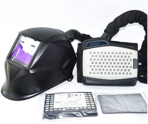 Powered Air Purifying Respirator Auto Darkening Welding Helmet, Personal Protective Equipment, Industry Welding Mask PAPR Kit